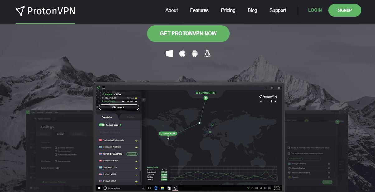 Proton VPN best free vpn nz